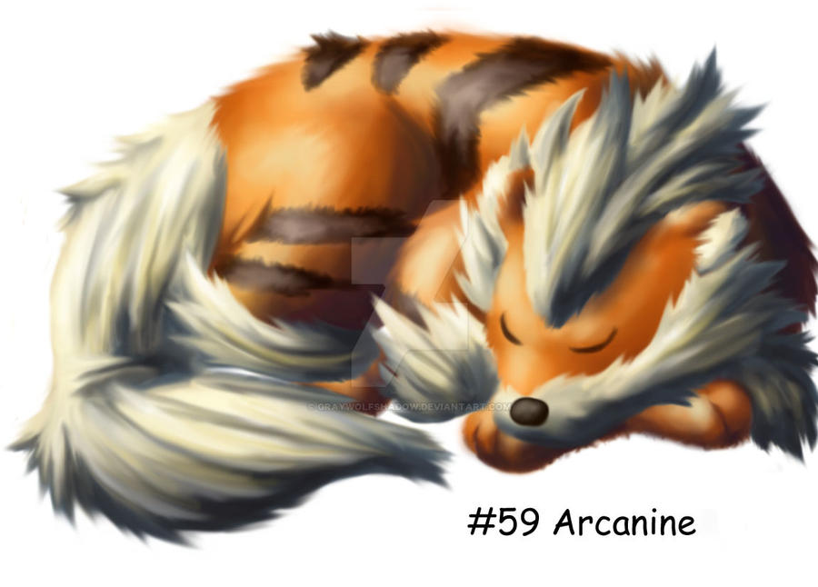 Arcanine by GrayWolfShadow
