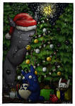 Totoro christmas card