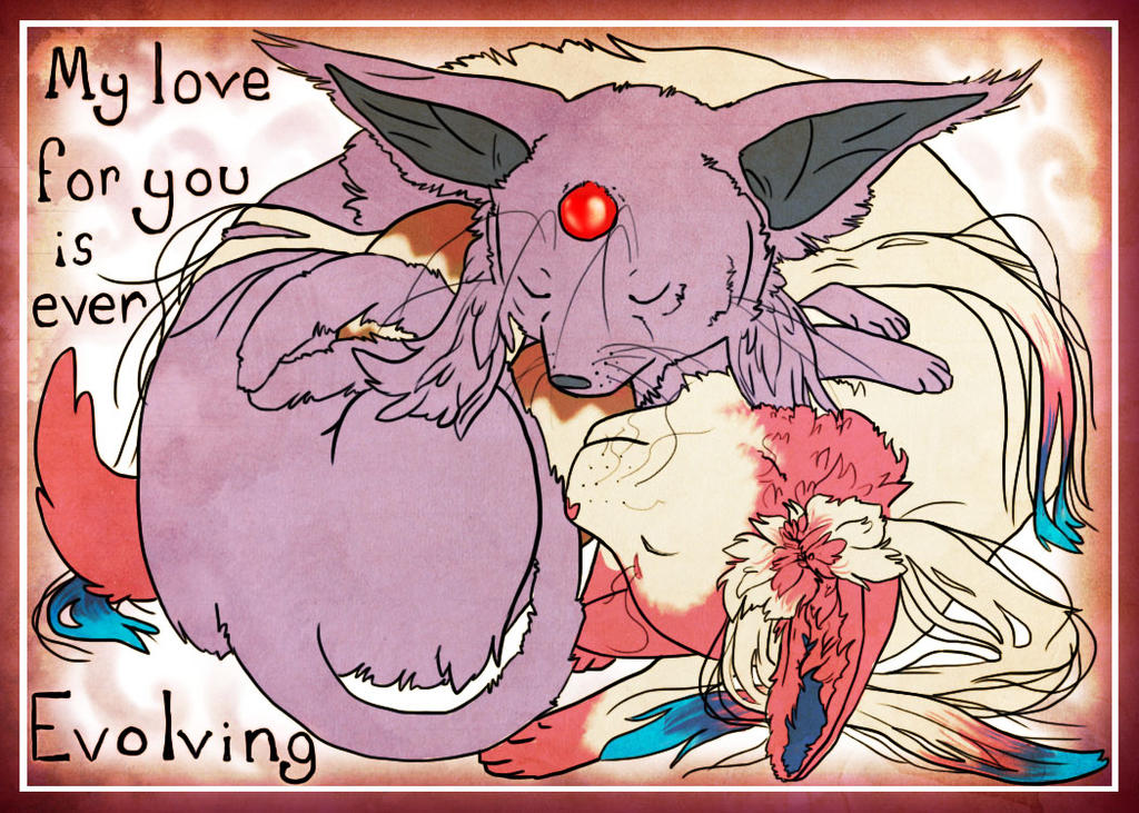 eeveelutional lovin by GrayWolfShadow