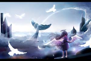 Yuki in the sky by Karadavre