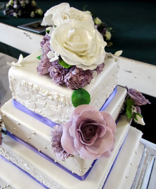 Laura S Edible Cake Art : Laura`s wedding cake! 4 by 0970jackie on DeviantArt