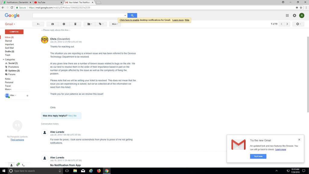 DeviantArt App Problem? by A5L-Legion on DeviantArt