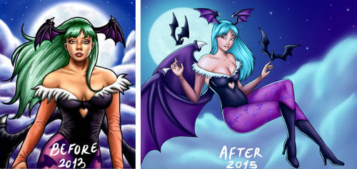 Morrigan: Before and After