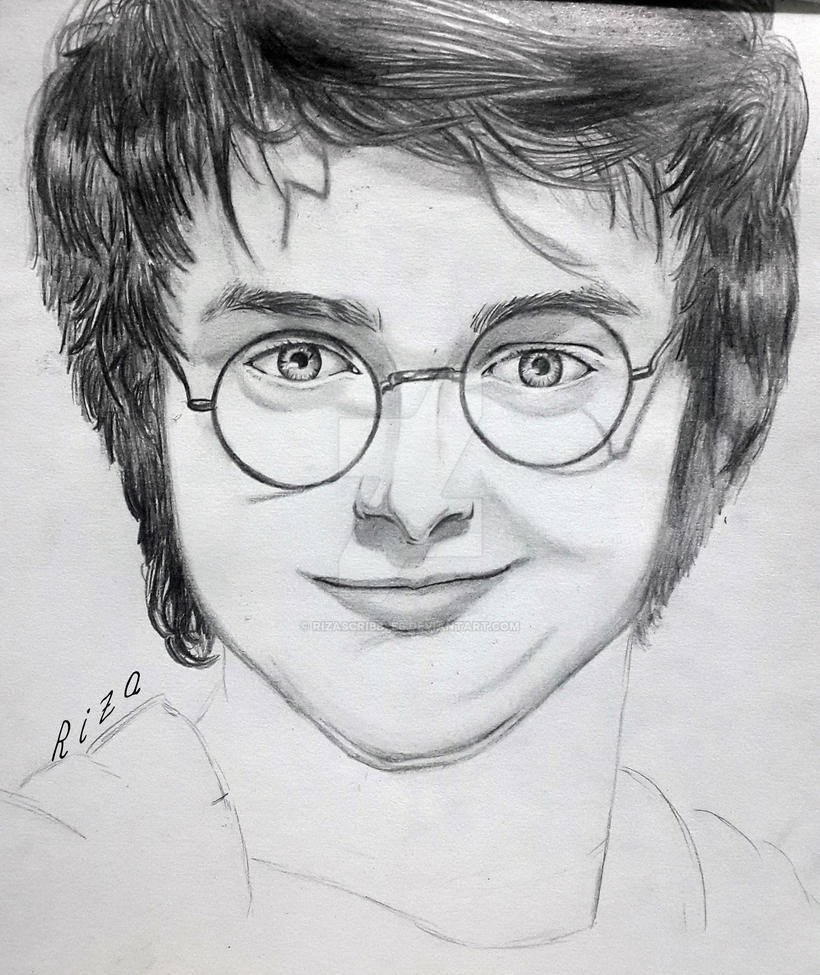 Harry potter pencil sketch by rizascribbles
