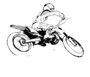 Dirt Bike by sketchmarcks