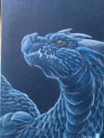 Dragon Headshot : Blue