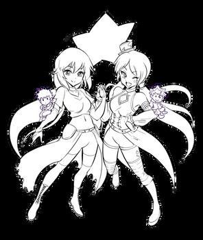 Ariki and Kameri - drawn by Takafumi Adachi