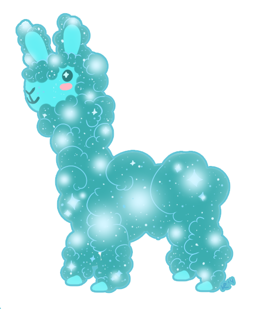 Sparkles the Alpaca- Gift for Stephanie Rosario by Hoshi-dono
