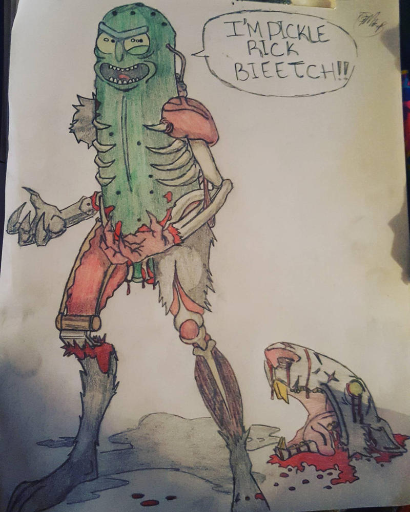 pickle rick redraw  by ogmikep