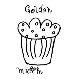 Golden muffin icon