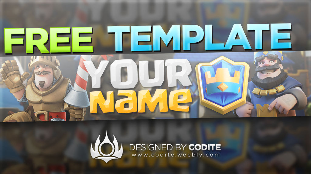 CLASH ROYALE FREE BANNER TEMPLATE PSD DOWNLOAD by codite on
