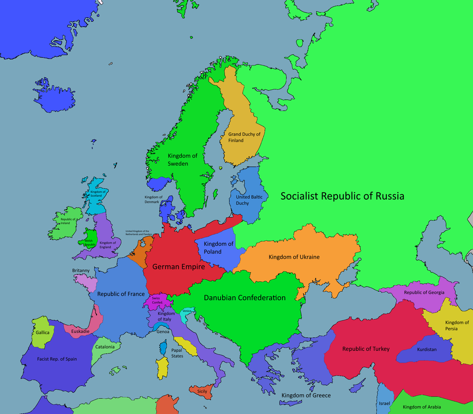 Map Of Europe 1920 Pictures to Pin on Pinterest PinsDaddy