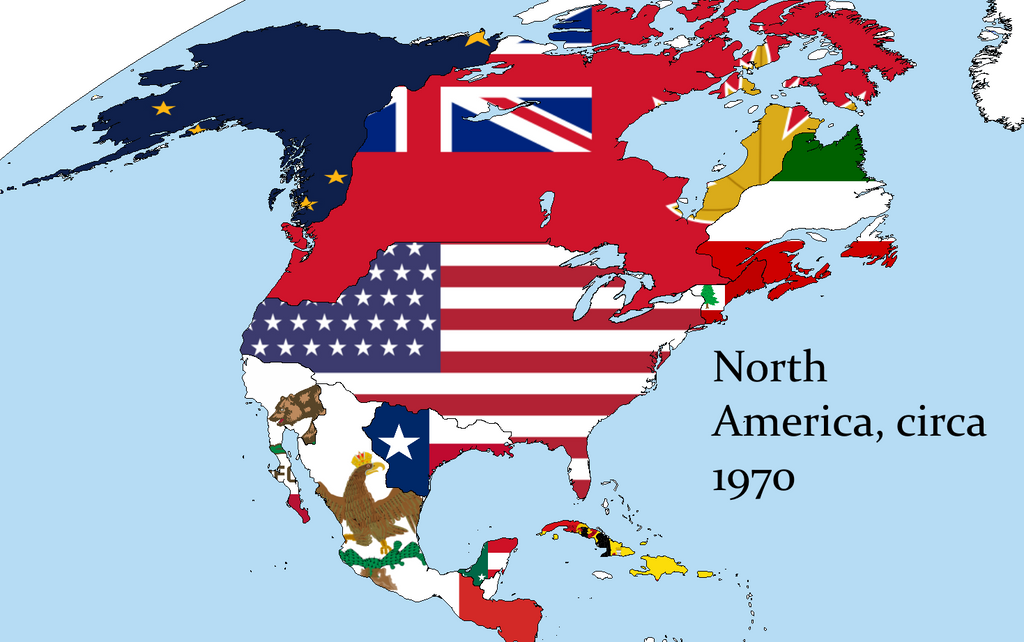 Alternate North America Flag Map By KitFisto On DeviantArt - Us flag map