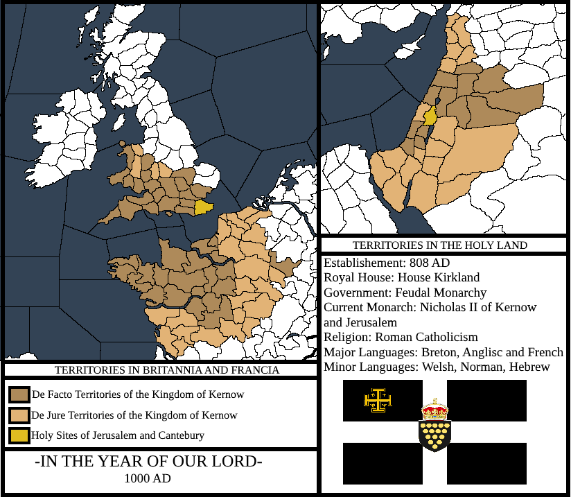 Map of the Kingdom of Kernow circa 1000 AD (CKII) by ...