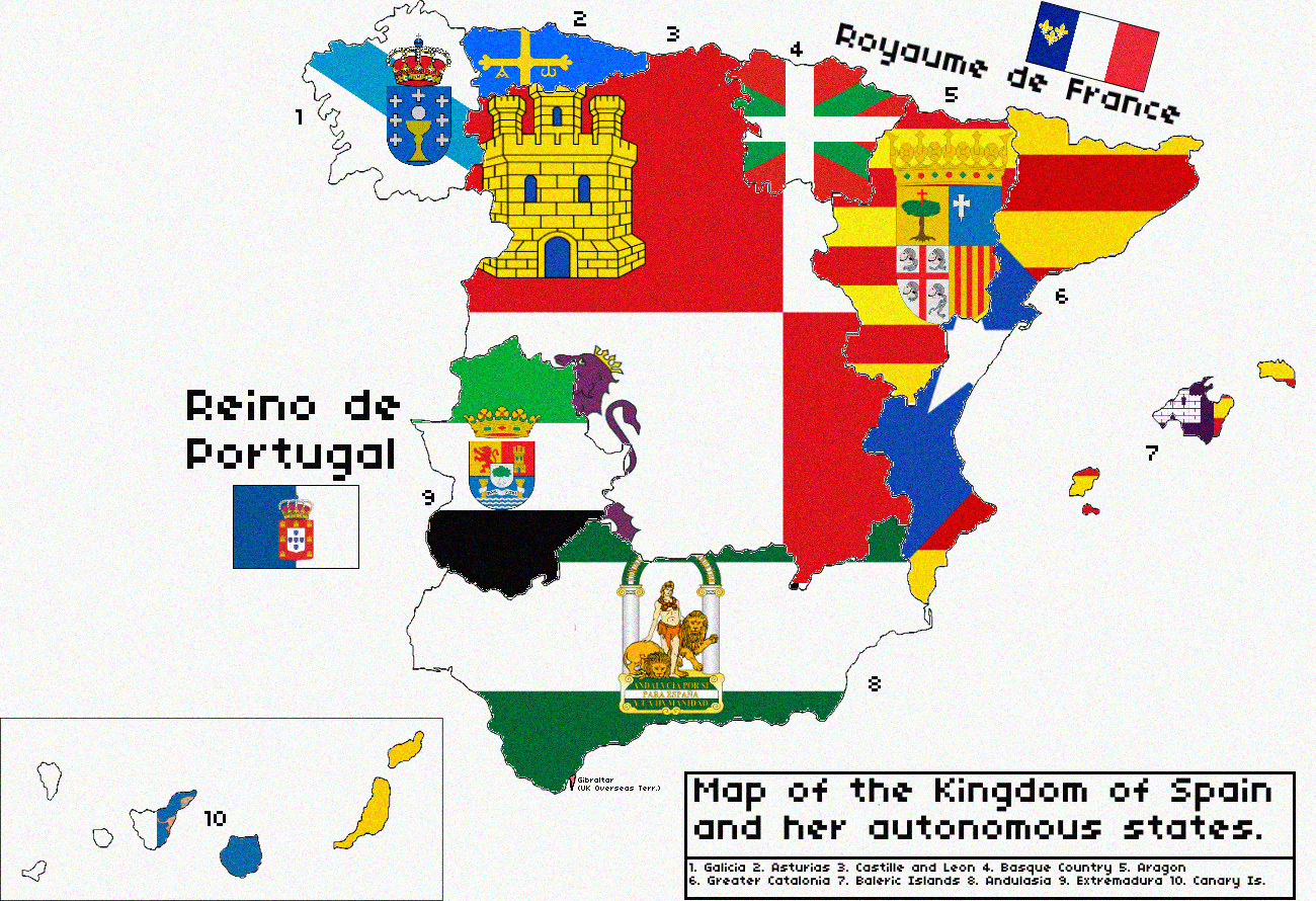 map of the kingdom of spain revolution by kitfisto1997 on