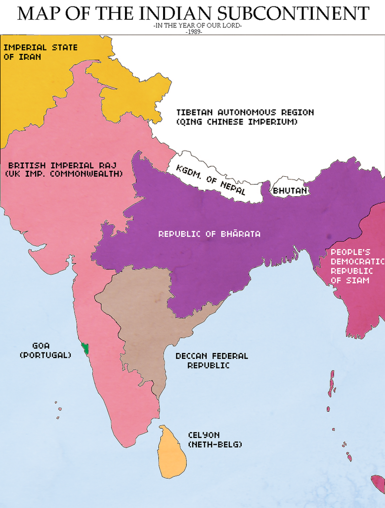 Map of the indian subcontinent revolution redux by kitfisto1997 map of the indian subcontinent revolution gumiabroncs Gallery