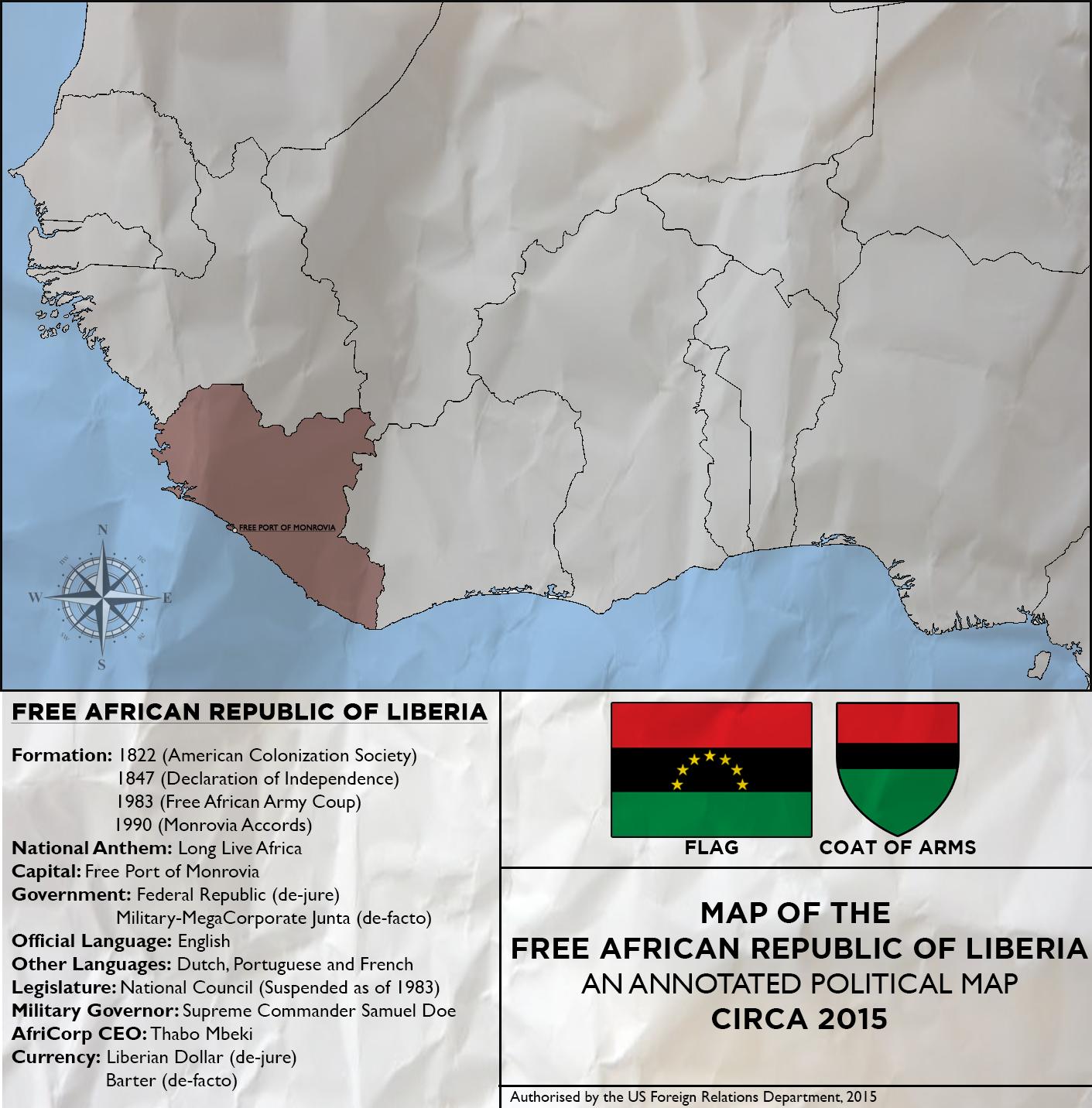 Map of Liberia Revolution Redux by KitFisto1997 on DeviantArt