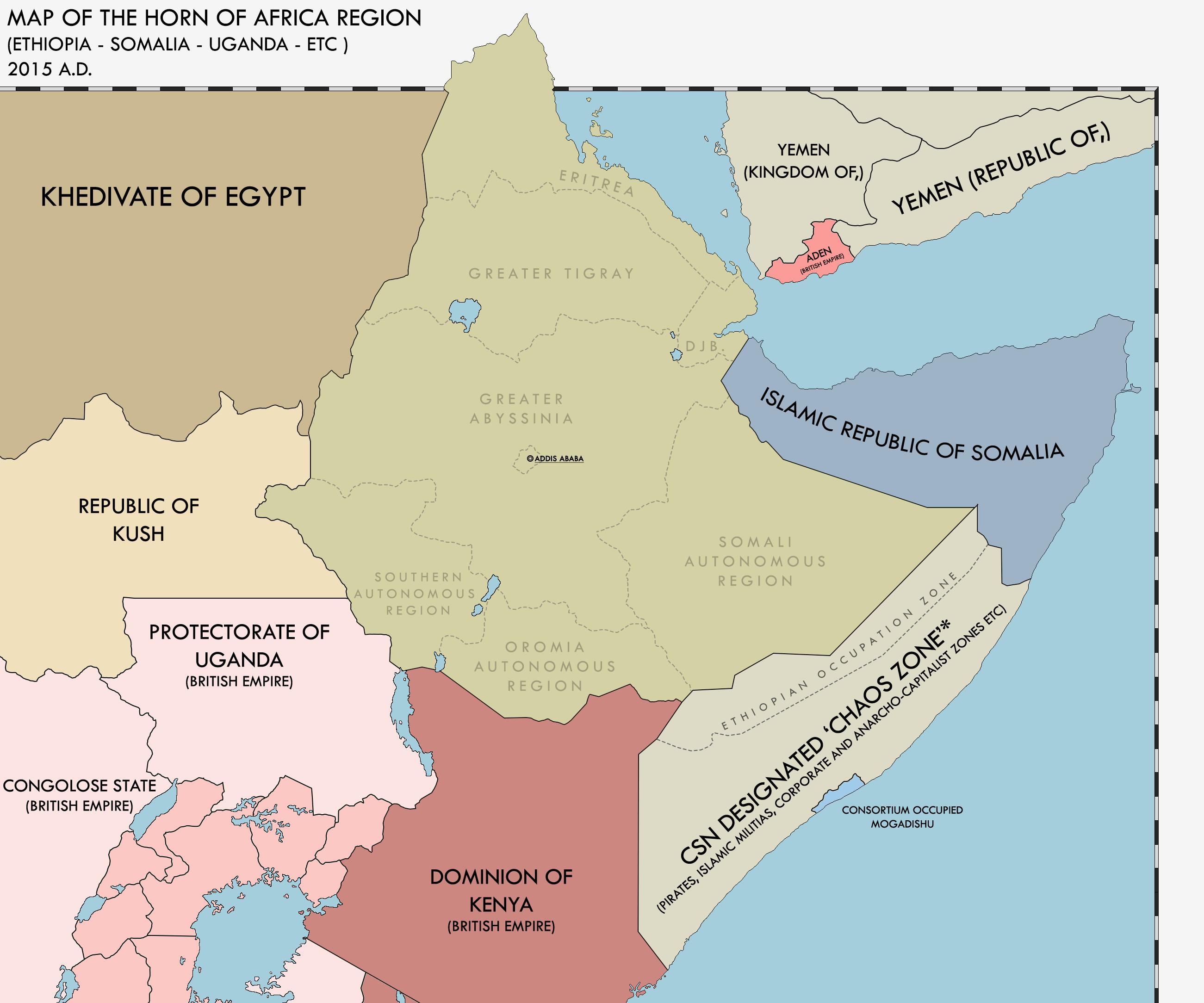 Map Of The Horn Of Africa Rev Redux By KitFisto On DeviantArt - Horn of africa map