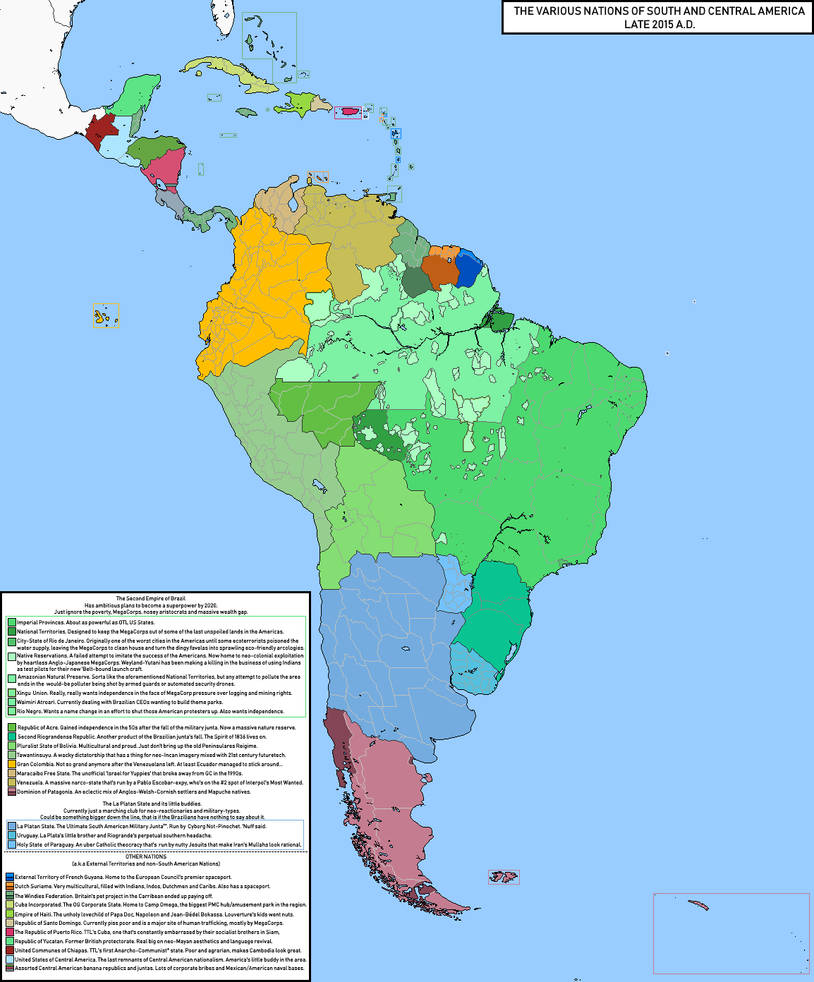 Map of South American (Rev! Redux) by KitFisto1997 on DeviantArt