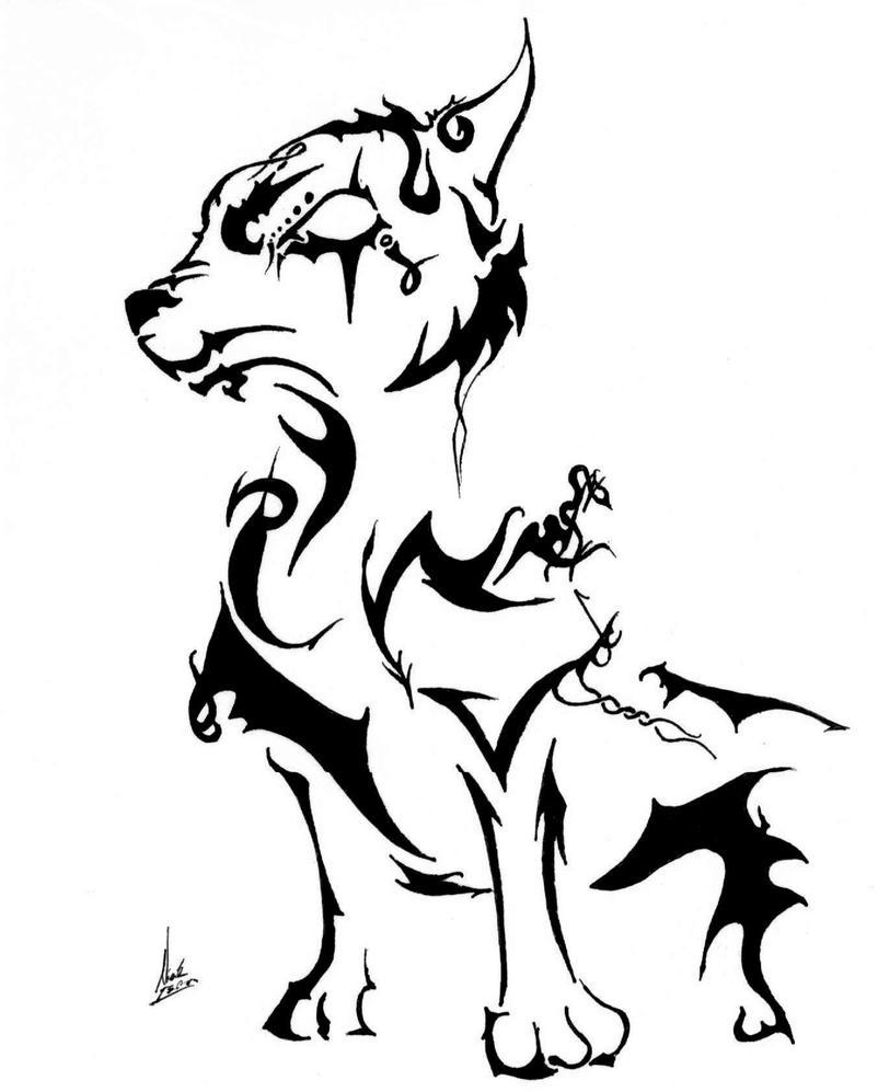 Tribal Wolf Wallpaper: Tribal Wolf By Deafening-Silence On DeviantArt