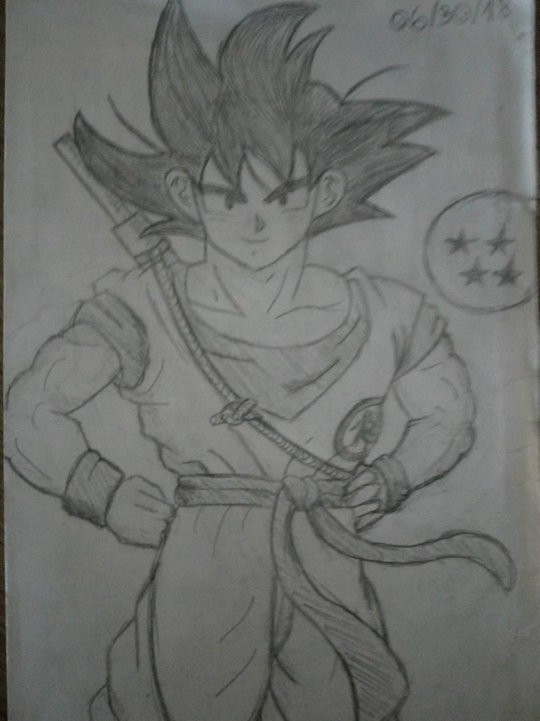 [Traditional Art] Goku by 4lyx9