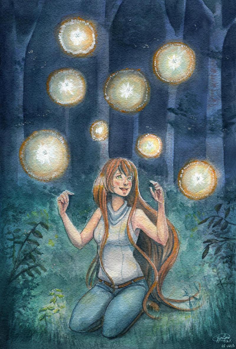 Fireflies by KuroCyou