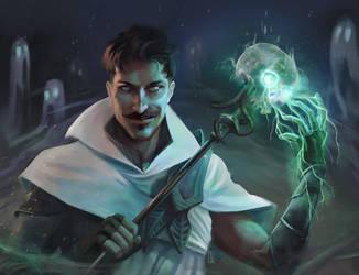 Necromancer Dorian by KuroCyou