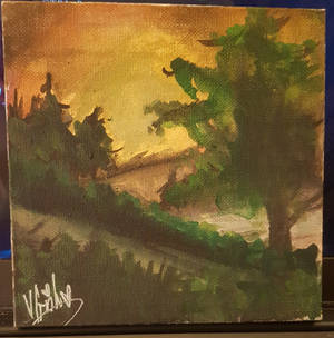 I followed a Bob Ross painting video...