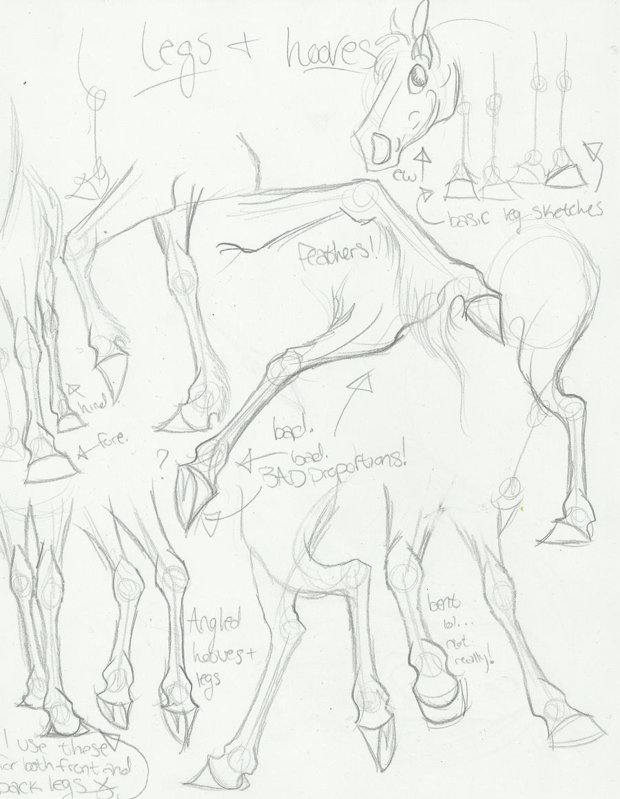 Cartoon Leg and Hoof angles by DaysOfElijah