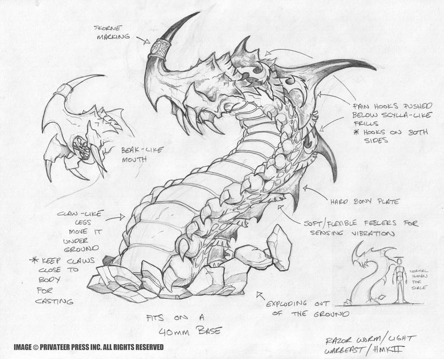 Skorne Razorworm by cwalton73