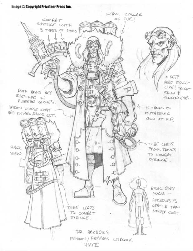 Dr. Arkadius Minion Warlock by cwalton73