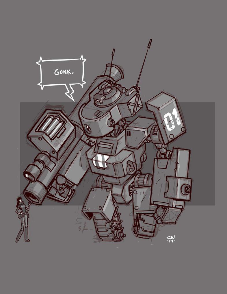 Mecha Sketch 3 by cwalton73