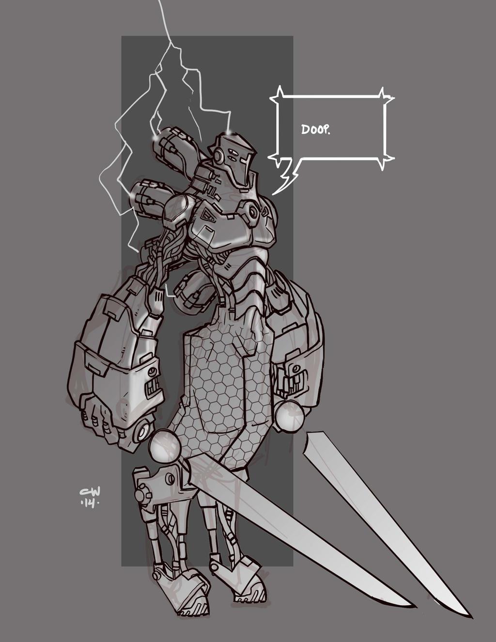 Mecha Sketch 4 by cwalton73
