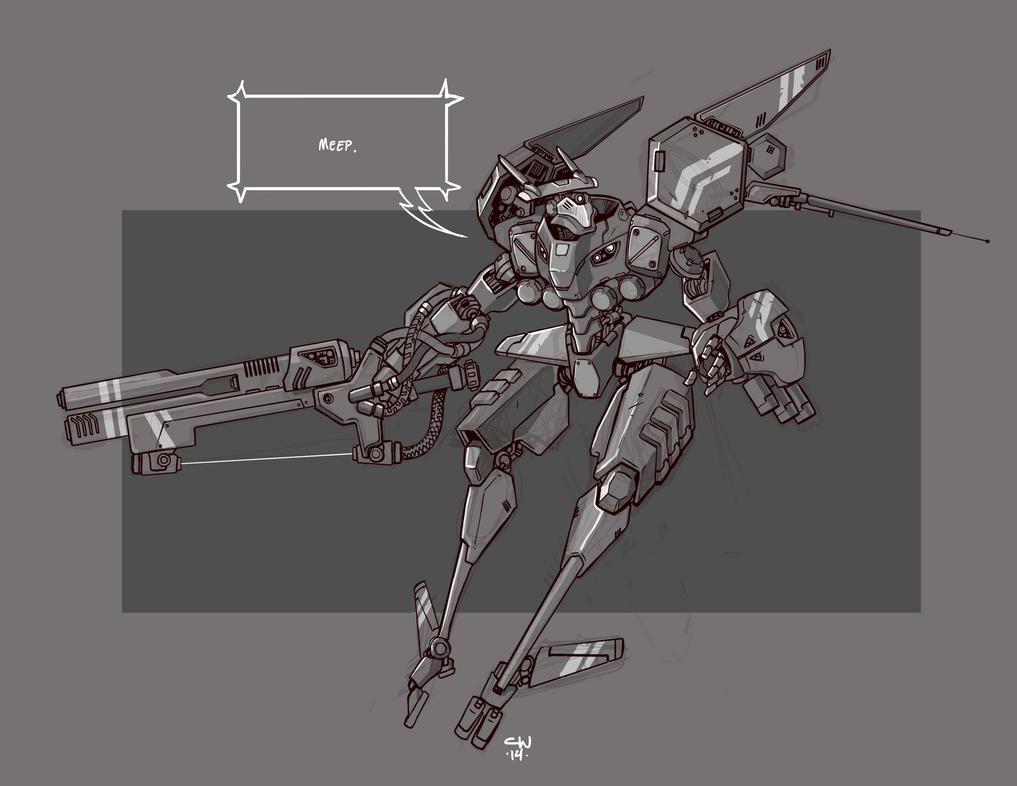 Mecha Sketch 5 by cwalton73