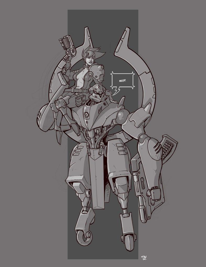 Mecha Sketch 6 by cwalton73