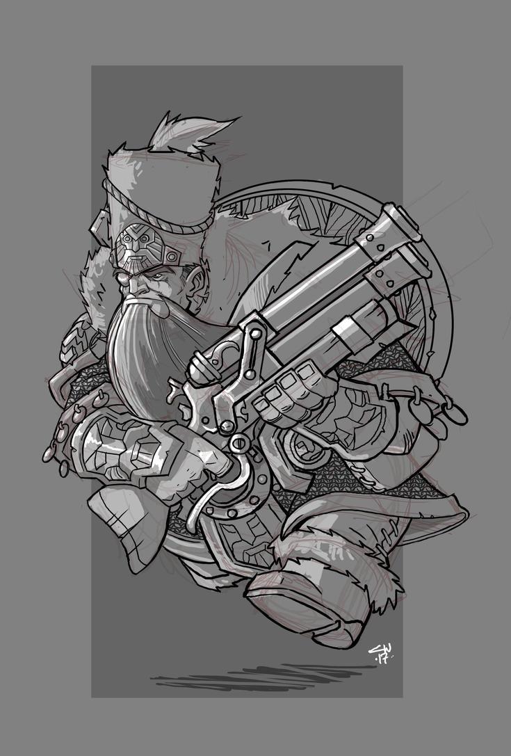 Dwarf Dragoon by cwalton73