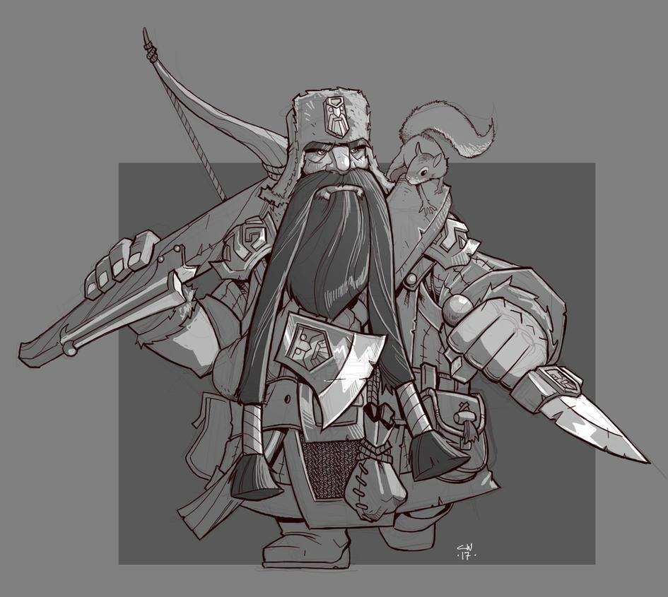 Dwarf Ranger by cwalton73