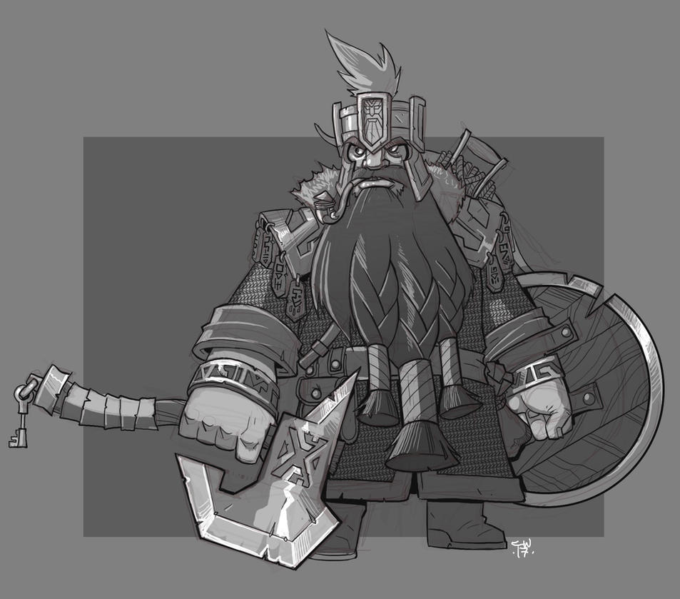 Dwarf Fighter by cwalton73