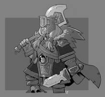 Dwarf Warrior by cwalton73