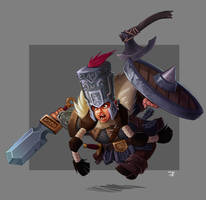 Dwarf Charge! in COLOR by cwalton73