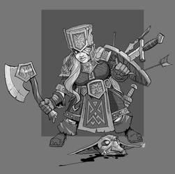 Dwarf Veteran by cwalton73