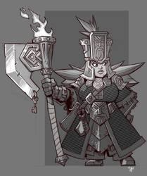 Dwarf Axewoman by cwalton73
