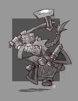Dwarf Warrior Attack!