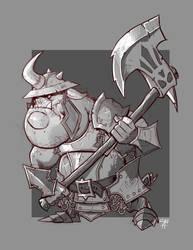 Orc Axeman by cwalton73