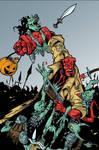 Hellboy vs Goblins Colored