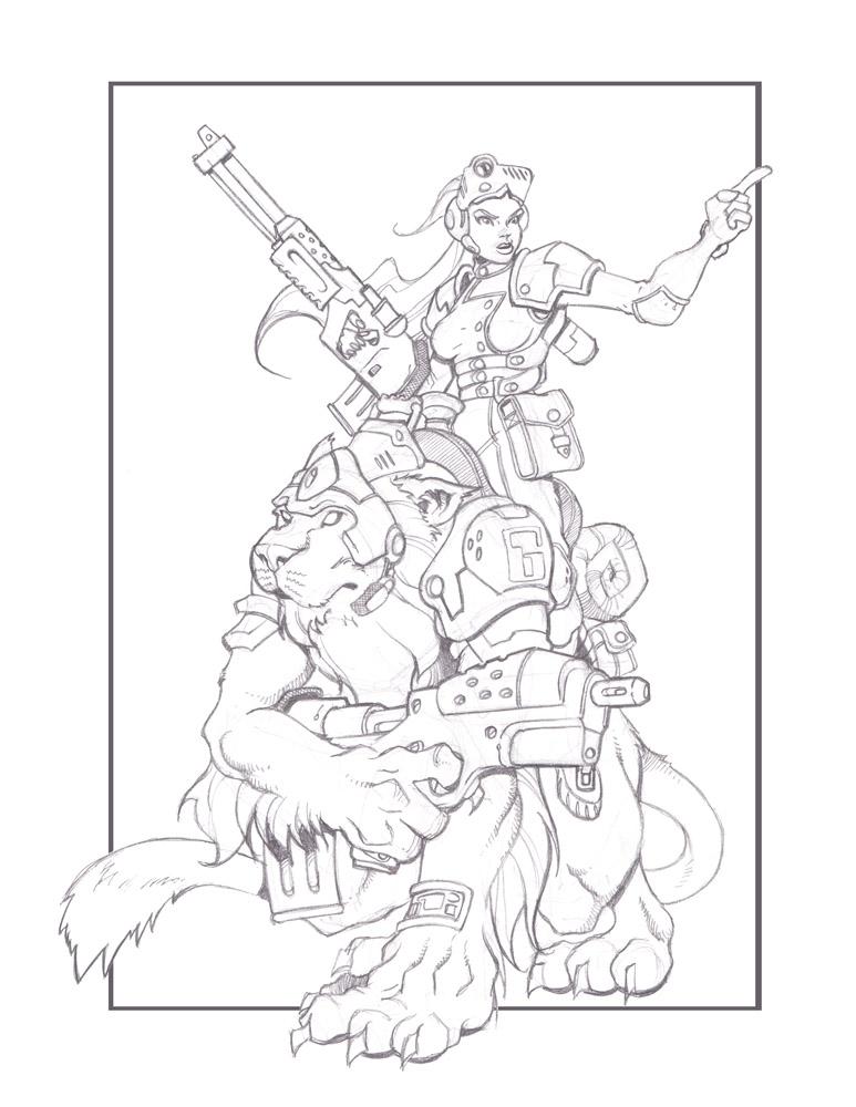 Lion Rider by cwalton73
