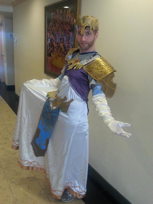 Genderbent zelda cosplay