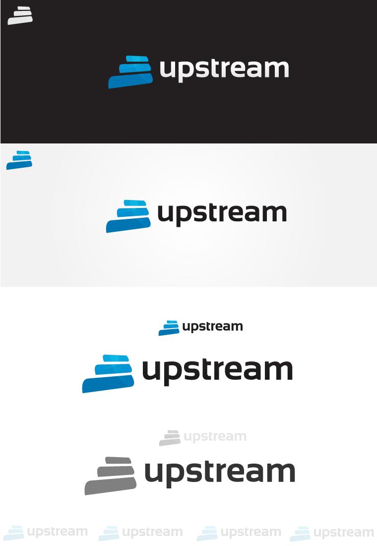 upstream Logo Design by dsquaredgfx