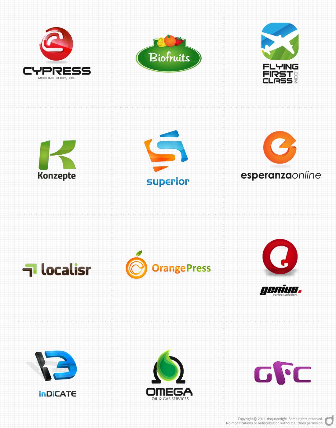 Logofolio for 2011 - dsquaredgfx by dsquaredgfx