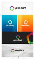 pixelflare Logo Design by dsquaredgfx